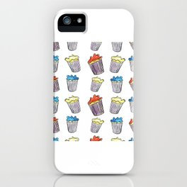 Sweet Tooth Cupcake Pattern iPhone Case