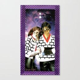 ME + U 4EVA handcut collage Canvas Print
