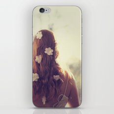 Flowers in her Hair iPhone & iPod Skin