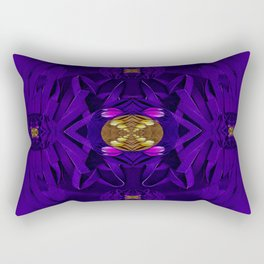 Fantasy with decorative florals in leather Rectangular Pillow