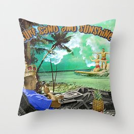 Surf Sand and Sunshine Throw Pillow