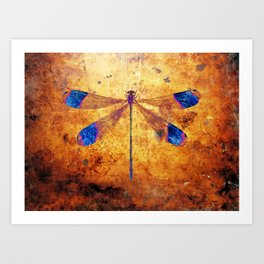 Dragonfly in Amber Art Print
