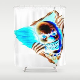 Evil Clown Shower Curtain