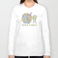 katamari Long Sleeve T-shirts featuring Katamari Rock & Roll by vonplatypus