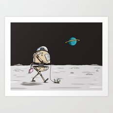 On the moon 1 Art Print