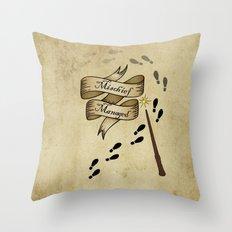 Mischief Managed Throw Pillow