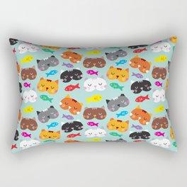Cats Love Fish I Rectangular Pillow