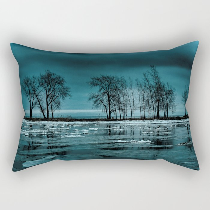 Distorted Reflections Rectangular Pillow