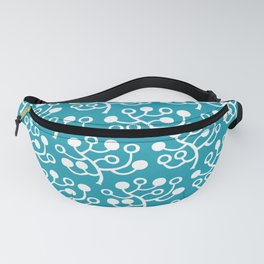 Mid Century Modern Berries Pattern turquoise 2 Fanny Pack