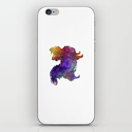 Chihuahua 02 in watercolor iPhone Skin