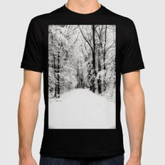 snowy woods Black SMALL Mens Fitted Tee