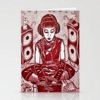 internet Stationery Cards featuring Internet Girl by Yukska