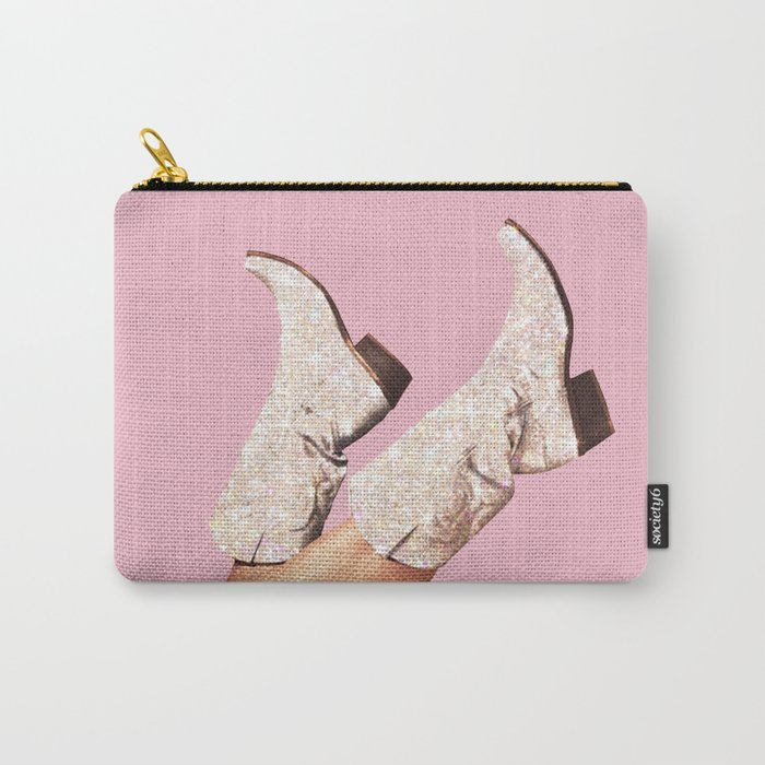 These Boots - Glitter Pink Carry-All Pouch