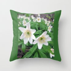 Fresh in White Throw Pillow