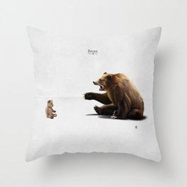 Brunt (wordless) Throw Pillow