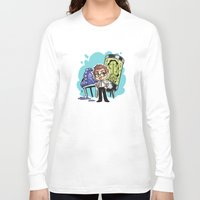 pacific rim Long Sleeve T-shirts featuring Pacific Rim - Fortune Favors the Brave by feriowind