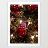 minnie mouse Art Prints featuring Minnie Mouse Ornament by Lindsey Hart Photography
