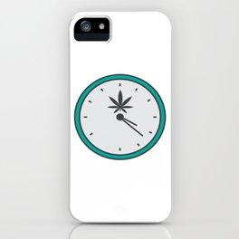 Time Clock 420 Adults Green Cannabis Shirt Weed T-shirt Design Marijuana Medication Legalized iPhone Case