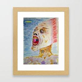 Terror Filled and Felt Within Framed Art Print