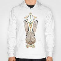 rabbit Hoodies featuring rabbit by Manoou