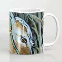 native Mugs featuring Native by Spirit Works Art