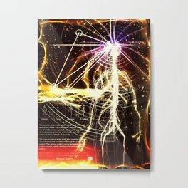 #NervousSystem Metal Print