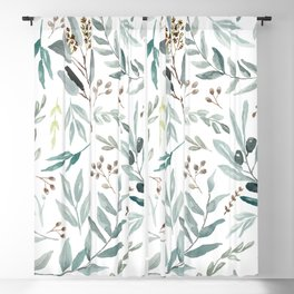 Eucalyptus pattern Blackout Curtain