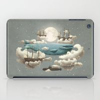 pixel art iPad Cases featuring Ocean Meets Sky by Terry Fan