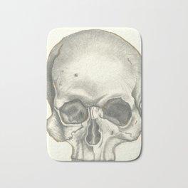 Vintage Skull - Black and White Drawing Bath Mat