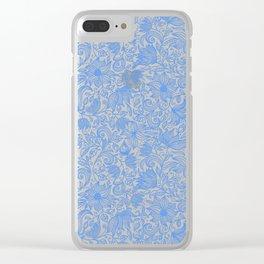 Bells Flower - BUTTERFLIES - CAMPANULA BLUE Clear iPhone Case