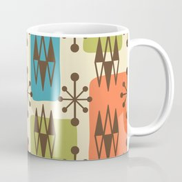 Mid Century Modern Abstract Atomic Diamonds 421 Coffee Mug