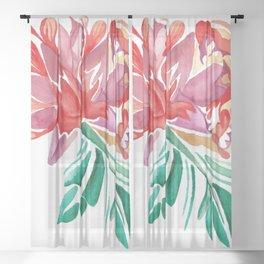 Abstract Blossom 1 Sheer Curtain