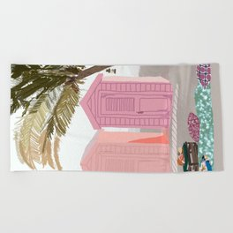 Lunch Plans Beach Towel