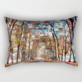 A vivid fall drive Rectangular Pillow