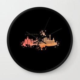 LIVERPOOL WATERCOLOR SKYLINE Wall Clock