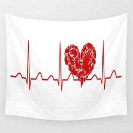 Social Worker Heartbeat Wall Tapestry
