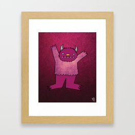 Violet Monster Framed Art Print