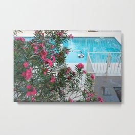 flowers at the pool Metal Print