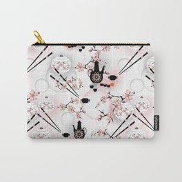 Oriental cuisine. Rolls , sushi , drinks , sake jug , Japanese , Chinese , Japanese cuisine Carry-All Pouch