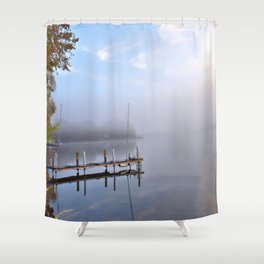 The Adirondacks: Misty October Morning Shower Curtain