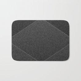 Plush Onyx Black Diamond Bath Mat
