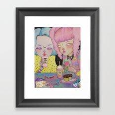 Breakfast Babes Framed Art Print