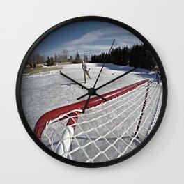 Pond Hockey Wall Clock