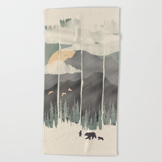 Spring Mountain Weather Beach Towel