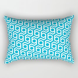 Modern Hive Geometric Repeat Pattern Rectangular Pillow