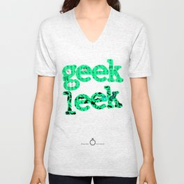 Tshirts for summer. Geek leek Unisex V-Neck