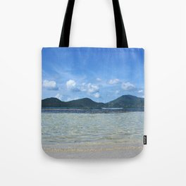 Down at Wave Level Tote Bag