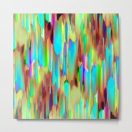 Colorful digital art splashing G505 Metal Print