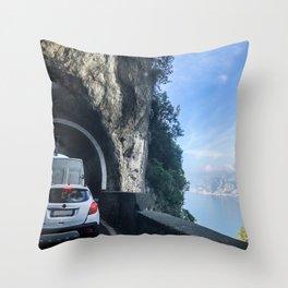 Amalfi Coast Drive Throw Pillow