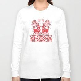 Folk Deers Long Sleeve T-shirt